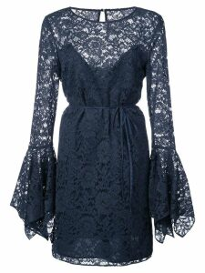 Zac Zac Posen lace pattern flared design dress - Blue