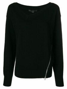 Alexander Wang asymmetric size-zip sweater - Black