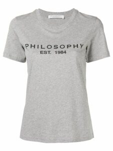 Philosophy Di Lorenzo Serafini printed logo T-shirt - Grey