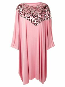 Mm6 Maison Margiela sequin trim cape dress - Pink