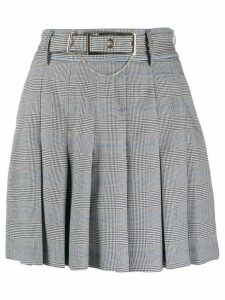 Liu Jo Prince of Wales check skirt - Black