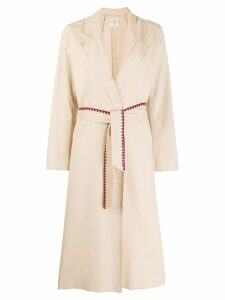 Forte Forte wrap coat - NEUTRALS
