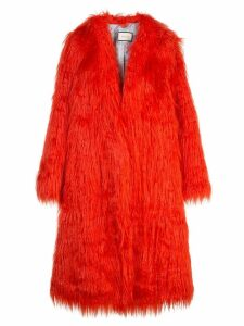 Gucci faux fur coat - Red