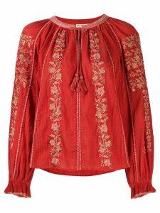 Ulla Johnson Rima embroidered blouse - Orange