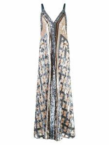 Temperley London embroidered maxi dress - Neutrals