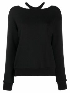Unravel Project loose-fit cut-out jumper - Black