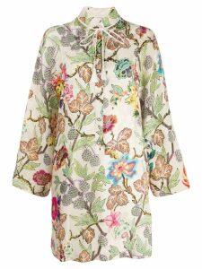 Etro Floral-print tunic dress - Neutrals