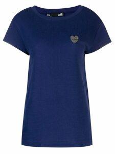 Love Moschino logo plaque T-shirt - Blue