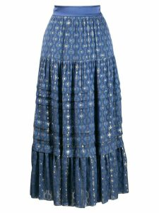 Temperley London a-line midi skirt - Blue