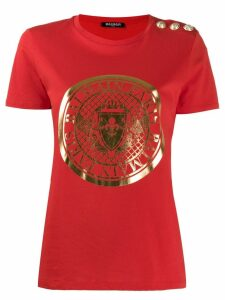 Balmain logo T-shirt - Red