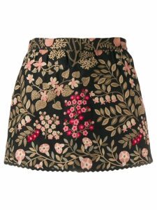 Red Valentino floral jacquard mini skirt - Black