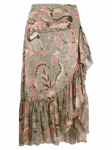 Ulla Johnson printed Ailie skirt - Neutrals