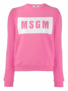 MSGM logo print sweatshirt - Pink
