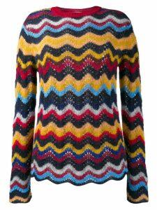 Marni wave knit sweater - Orange