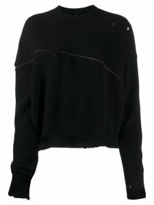 Unravel Project oversized zipped jumper - Black