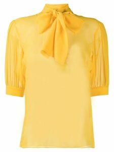Blumarine pussy bow blouse - Yellow
