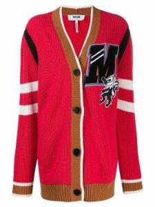 MSGM oversized '2' cardigan - Pink