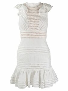 Zimmermann embroidered fitted dress - White