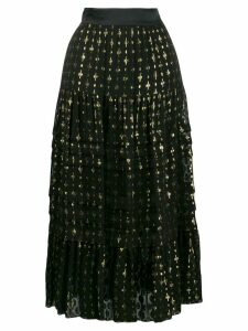 Temperley London pleated a-line skirt - Black