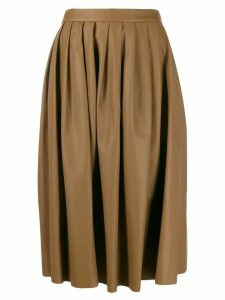 Agnona pleated midi skirt - Brown