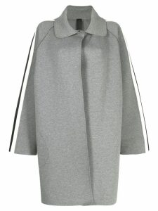 Norma Kamali side stripe trench coat - Grey