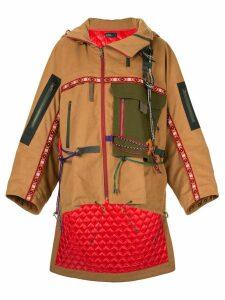 Kolor oversized high low coat - Brown