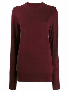 Maison Margiela crew neck knitted jumper - Red