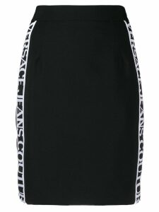 Versace Jeans side logo stripe skirt - Black