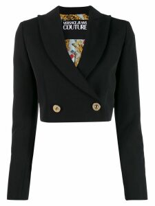 Versace Jeans Couture cropped blazer - Black