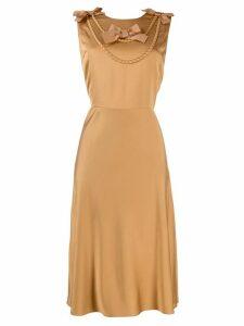 Boutique Moschino bow-detail dress - Neutrals