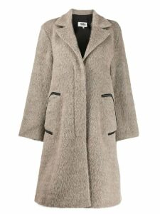 Mm6 Maison Margiela mohair coat - NEUTRALS