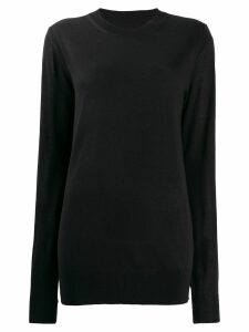 Maison Margiela crew neck knitted jumper - Black