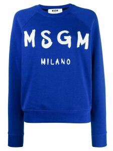 MSGM crewneck logo sweatshirt - Blue
