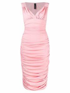Norma Kamali tara draped dress - Pink