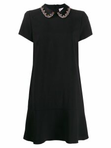 Red Valentino crystal collar dress - Black