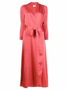Forte Forte Petalo wrap dress - Red