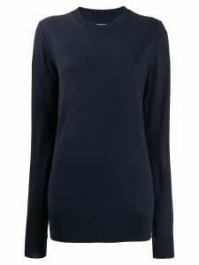 Maison Margiela crew neck knitted jumper - Blue