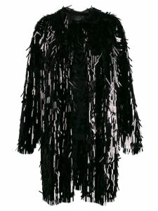 Norma Kamali all-over sequin trench coat - Black