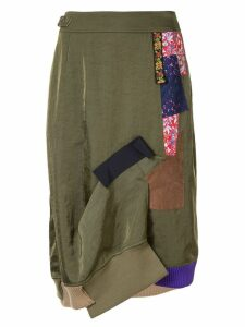 Kolor patchwork midi skirt - Green