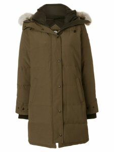Canada Goose Shelburne parka with fur trimmed hood - Green