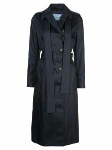 Prada double breasted belted trench - Black