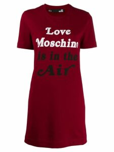 Love Moschino 'Love Moschino is in the air' T-shirt dress - Red