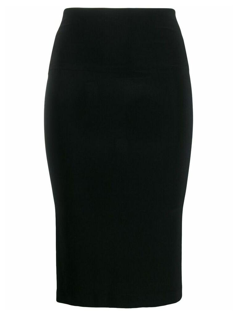 Norma Kamali mid-length fitted tube-skirt - Black