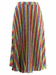 Michael Michael Kors Rainbow pleated midi skirt - Blue