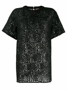 Nº21 lace embroidered blouse - Black