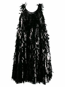 Norma Kamali sequin fringe dress - Black