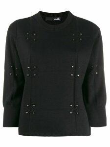 Love Moschino stud-embellished jumper - Black