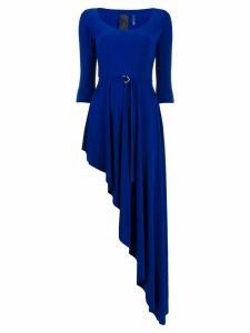 Norma Kamali asymmetric scoop-neck dress - Blue