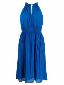 Michael Michael Kors pleated flare dress - Blue
