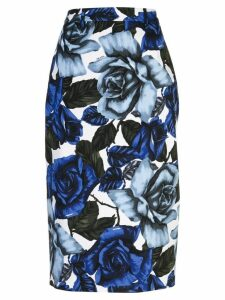 Prada floral print pencil skirt - Blue
